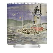 Tarrytown Lighthouse From The South Shower Curtain