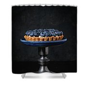 Tartlet With Blueberries Shower Curtain