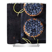 Tartlets With Blueberries Shower Curtain