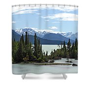 Taseko Lake Shower Curtain