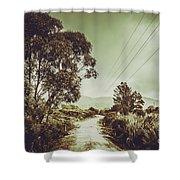 Tasmania Country Roads Shower Curtain