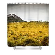 Tasmania Mountains Of The East-west Great Divide  Shower Curtain