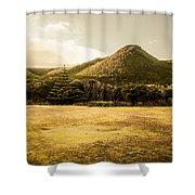 Tasmania West Coast Mountain Range Shower Curtain