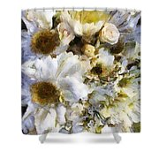 Tattered Bouquet Shower Curtain