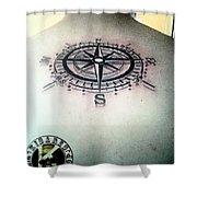 Tattoo Shower Curtain