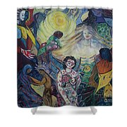 Tattooed Man  Shower Curtain