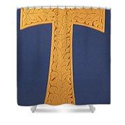 Tau Cross Shower Curtain
