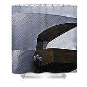 Taubman Ledge Sculpture Roanoke Virginia Shower Curtain