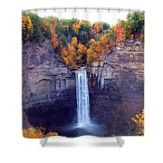 Taughannock Waterfalls In Autumn Shower Curtain