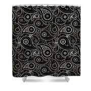 Taupe Brown Paisley Design Shower Curtain