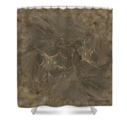 Taupe Fractal Composition Shower Curtain