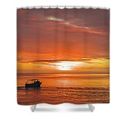 Taveuni Sunset Shower Curtain