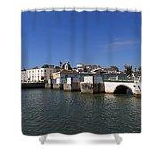 Tavira Ponte Romana And The River Shower Curtain