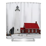 Tawas Point Lighthouse 2 Shower Curtain