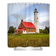 Tawas Point Lighthouse - Lower Peninsula, Mi  Shower Curtain