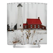 Tawas Point Lighthouse Shower Curtain
