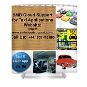 Taxi Booking Application Shower Curtain