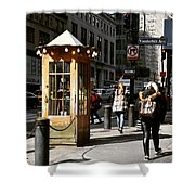 Taxi Booth Shower Curtain