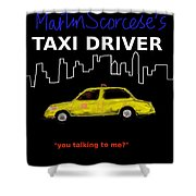 Taxi Driver Movie Poster Shower Curtain