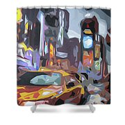 Taxi On Broadway Shower Curtain