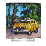 Taxi Y Amigos Shower Curtain