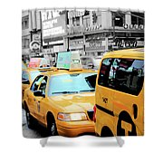 Taxiderby Shower Curtain