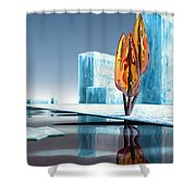 Taxus Glacialis Shower Curtain