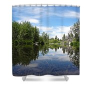 Taylor Creek Reflections Shower Curtain