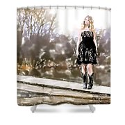 Taylor Swift Watercolor Shower Curtain