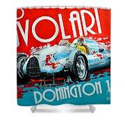 Tazio Nuvolari Auto Union D Donnington 1939 Shower Curtain