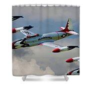 Tbirds Lockheed T-33 Shooting Star Shower Curtain