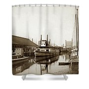 T.c. Walker Paddle Riverboat City Of Stockton Riverboat And Kath Shower Curtain