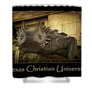Tcu Frog Poster 2015 Shower Curtain