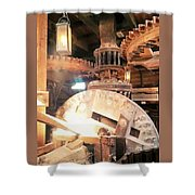 The Heart Of A Windmill The Nederlands Shower Curtain