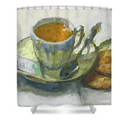 Tea And Biscuits Shower Curtain
