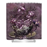 Tea And Roses Shower Curtain