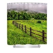 Tea Creek Meadow And Buttercups Shower Curtain