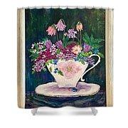 Tea Cup Bloom Shower Curtain
