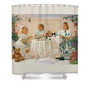 Tea In The Rose Garden Shower Curtain