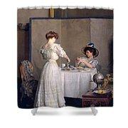 Tea Leaves Shower Curtain
