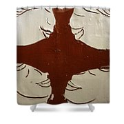 Tea Time - Tile Shower Curtain