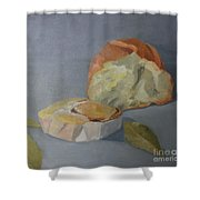 Tea Time Shower Curtain by Genevieve Brown