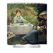 Tea Time Shower Curtain by Jacques Jourdan