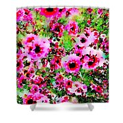 Tea Tree Garden Flowers Shower Curtain