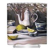 Tea With Lemon Shower Curtain