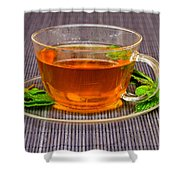 Tea With Mint Shower Curtain