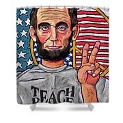 Teach Peace Shower Curtain