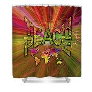 Teach Peace Shower Curtain