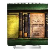 Teacher - Books You Use In School  Shower Curtain by Mike Savad