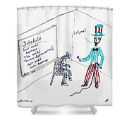 Teacher Appreciation Shower Curtain